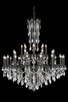 Picture for category Elegant 9232G48DB/RC Rosalia Chandeliers 48in Dark Bronze 32-light
