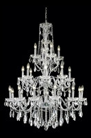 Picture for category Elegant 2016G36C/RC St Francis Chandeliers 36in Chrome 24-light