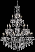 Picture for category Elegant 2016G36DB/SA St Francis Chandeliers 36in Dark Bronze 24-light