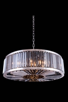 Picture for category Elegant 1203G43PN-SS/RC Chelsea Pendants 44in Polished nickel 10-light