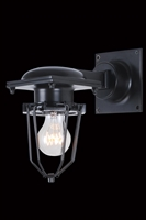 Picture for category Elegant 1451W9BK Kingston Wall Lantern 9in Black 1-light