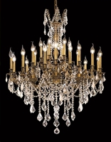 Picture for category Elegant 9224D36FG/EC Rosalia Chandeliers 36in French Gold 24-light