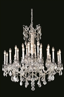 Picture for category Elegant 9224D36PW/SS Rosalia Chandeliers 36in Pewter 24-light