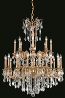 Picture for category Elegant 9224G36FG/SS Rosalia Chandeliers 36in French Gold 24-light