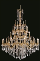 Picture for category Elegant 9255G64FG/SA Rosalia Chandeliers 64in French Gold 55-light