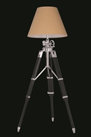 Picture for category Elegant FL1208 Ansel Tripod Table Lamps 26in Chrome & Black 1-light
