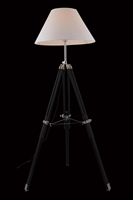 Picture for category Elegant FL1209 Ansel Tripod Table Lamps 22in Chrome & Black 1-light