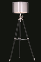 Picture for category Elegant FL1210 Ansel Tripod Table Lamps 20in Chrome & Black 1-light
