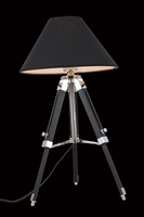 Picture for category Elegant FL1211 Ansel Tripod Table Lamps 12in Chrome & Black 1-light