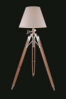 Picture for category Elegant FL1212 Ansel Tripod Table Lamps 26in Chrome & Black 1-light