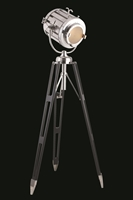 Picture for category Elegant FL1214 Ansel Tripod Table Lamps 19in Chrome & Black 1-light