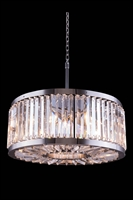 Picture for category Elegant 1203D28PN/RC Chelsea Pendants 28in Polished nickel 8-light