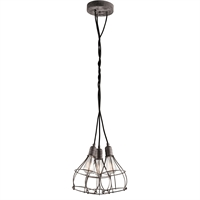 Picture for category Kichler 43600WZC Industrial Cage Pendants 15in Weathered Zinc STEEL 3-light