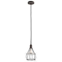Picture for category Kichler 43602WZC Industrial Cage Mini Pendants 7in Weathered Zinc STEEL 1-light