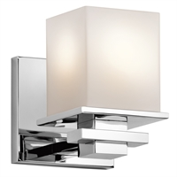 Picture for category Kichler 45149CH Tully Wall Sconces 5in Chromes Tones STEEL 1-light