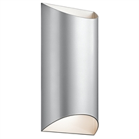 Picture for category Kichler 49279PLLED Wesly Outdoor Wall Sconces 7in Platinum ALUMINUM