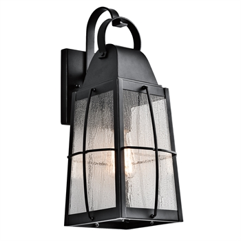 Picture of Kichler 49553BKT Tolerand Outdoor Wall Sconces 8in Black Tones ALUMINUM 1-light