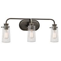 Picture for category Kichler 45459OZ Braelyn Bath Lighting 24in Bronze Tones STEEL 3-light