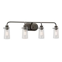 Picture for category Kichler 45460OZ Braelyn Bath Lighting 34in Bronze Tones STEEL 4-light