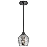 Picture for category Kichler 43489BKSLV Annata Mini Pendants 6in Black Tones STEEL 1-light