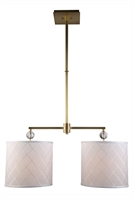 Picture for category Elegant 1445D34BB Gemma Pendants 12in Brass Tones 2-light