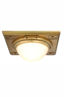 Picture for category Elegant 1446F12BB Cilla Flush Mounts 13in Brass Tones 2-light