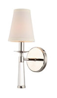 Picture for category Crystorama 8861-PN Baxter Wall Sconces 5in Nickel Tones Steel 1-light