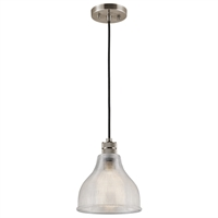 Picture for category Kichler 43551CLP Devin Mini Pendants 8in Classic Pewter GLASS 1-light