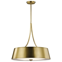 Picture for category Kichler 43742NBR Maclain Chandeliers 24in Brass Tones STEEL 4-light