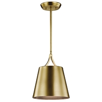 Picture for category Kichler 43743NBR Maclain Mini Pendants 10in Brass Tones STEEL 1-light