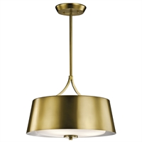 Picture for category Kichler 43744NBR Maclain Pendants 16in Brass Tones STEEL 3-light