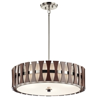 Picture for category Kichler 43753AUB Cirus Pendants 24in Auburn Stained Finish STEEL 4-light