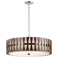Picture for category Kichler 43754AUB Cirus Pendants 30in Auburn Stained Finish STEEL 5-light