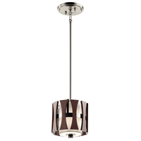Picture for category Kichler 43755AUB Cirus Mini Pendants 8in Auburn Stained Finish STEEL 1-light