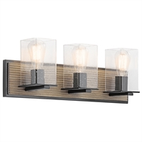 Picture for category Kichler 45544DAG Millwright Bath Lighting 22in Bronze Tones STEEL 3-light