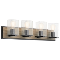 Picture for category Kichler 45545DAG Millwright Bath Lighting 30in Bronze Tones 4-light