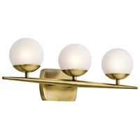 Picture for category Kichler 45582NBR Jasper Bath Lighting 25in Brass Tones STEEL 3-light