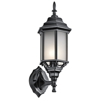 Picture for category Kichler 49255BKS Chesapeake Outdoor Wall Sconces 7in Black Tones ALUMINUM