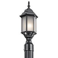 Picture for category Kichler 49256BKS Chesapeake Outdoor Post Light 7in Black Tones CAST ALUMINUM