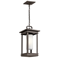 Picture for category Kichler 49493RZ South Hope Outdoor Pendant 9in Bronze Tones ALUMINUM 1-light