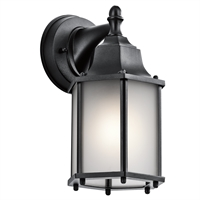 Picture for category Kichler 9774BKS Chesapeake Outdoor Wall Sconces 6in Black Tones CAST ALUMINUM