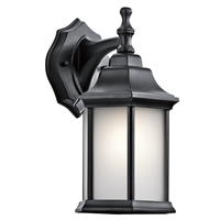 Picture for category Kichler 9776BKS Chesapeake Outdoor Wall Sconces 7in Black Tones ALUMINUM