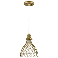 Picture for category Kichler 43127NBR Devin Mini Pendants 8in Brass Tones STEEL 1-light