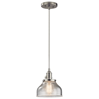 Picture for category Kichler 43850NI Avery Mini Pendants 8in Nickel Tones GLASS 1-light