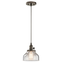Picture for category Kichler 43850OZ Avery Mini Pendants 8in Bronze Tones GLASS 1-light