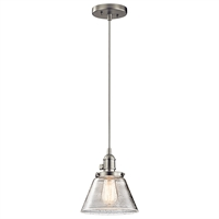 Picture for category Kichler 43851NI Avery Mini Pendants 8in Nickel Tones GLASS 1-light