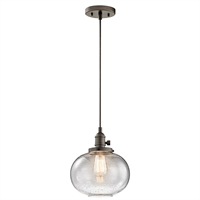Picture for category Kichler 43852OZ Avery Mini Pendants 10in Bronze Tones GLASS 1-light