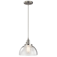 Picture for category Kichler 43853NI Avery Mini Pendants 10in Nickel Tones GLASS 1-light