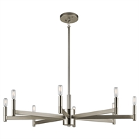 Picture for category Kichler 43857SN Erzo Chandeliers 36in Nickel Tones STEEL 8-light