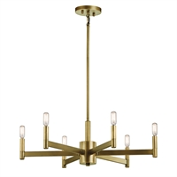 Picture for category Kichler 43859NBR Erzo Chandeliers 26in Brass Tones STEEL 6-light